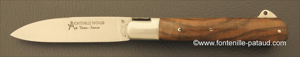 Yssingeaux knife walnut handmade in France