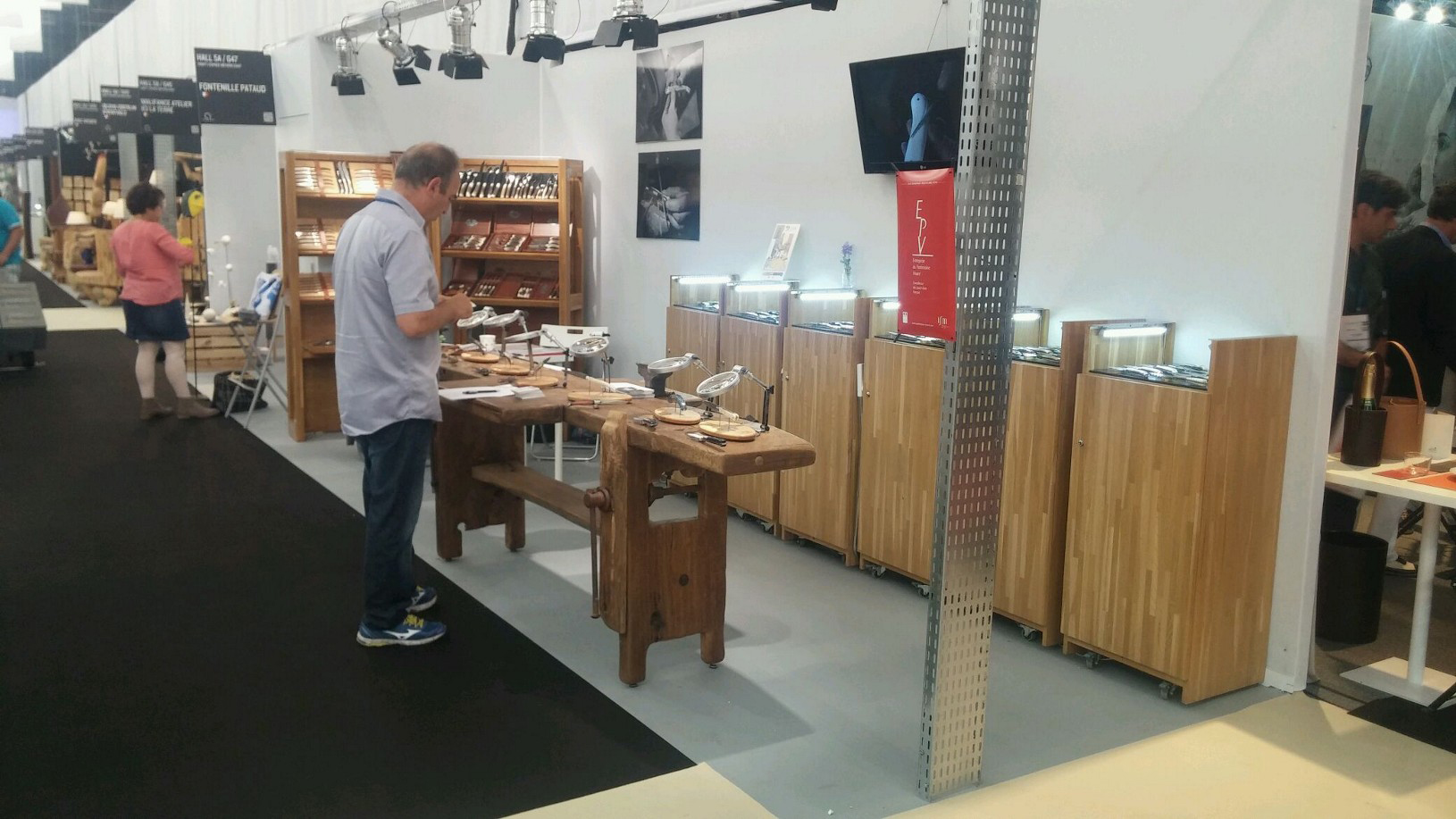 Fontenille-Pataud folding knives and table knive at Maison & Objet Tradeshow in Paris
