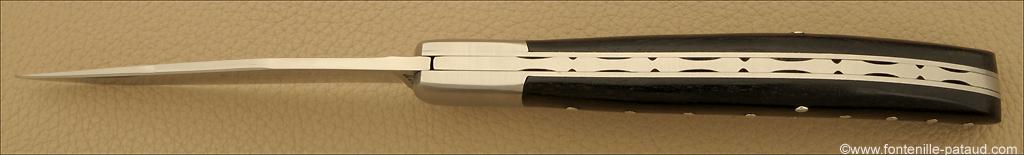 Couteau Basque Ebène fabriqué à la main par la coutellerie Fontenille-Pataud en France