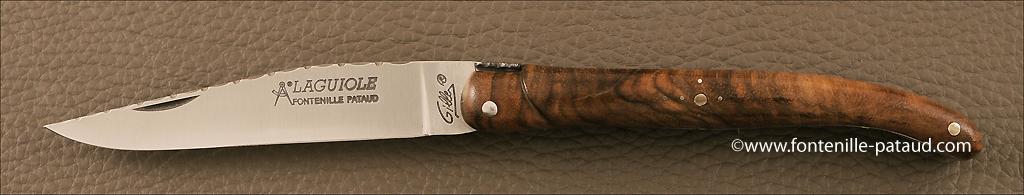 Laguiole 11 cm knife walnut full handle guilloche range