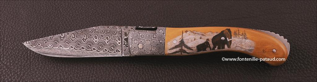 Laguiole Sport knife Scrimshaw