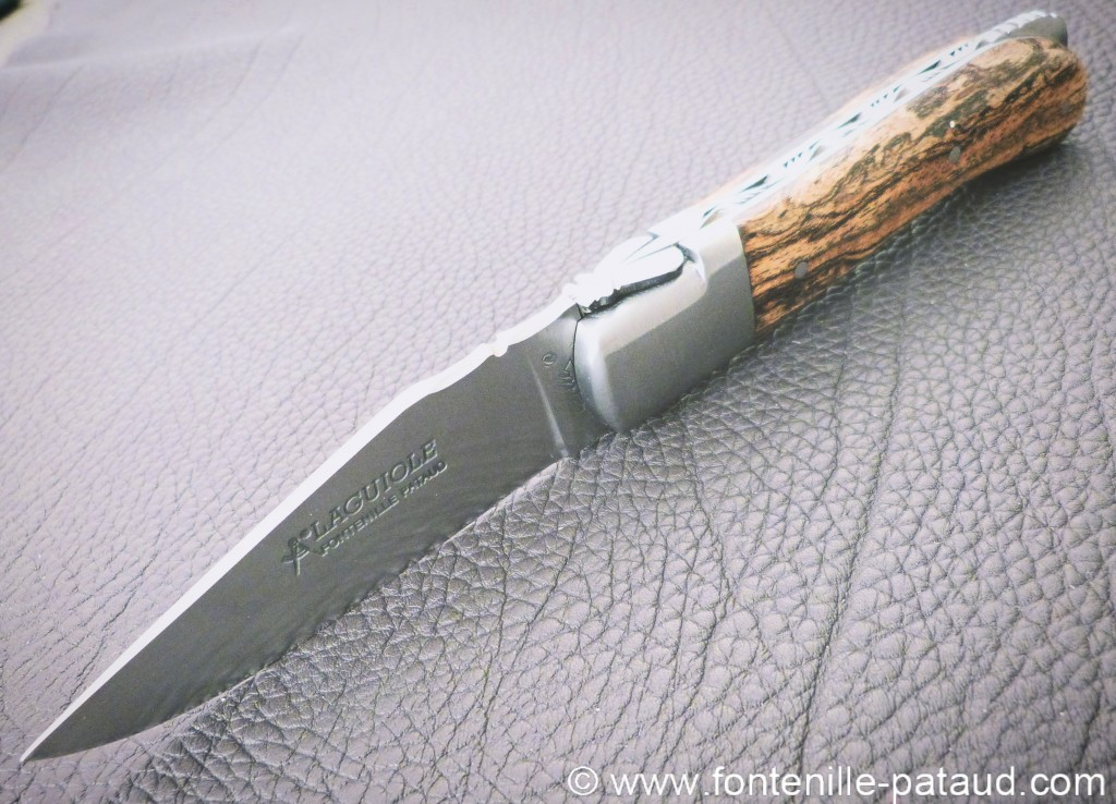 Laguiole gentleman knife bocote, lock back system