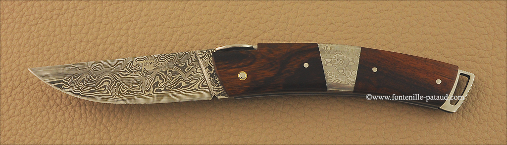 Le Thiers knife damascus