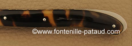 Folding knife tortoise shell
