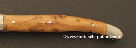 Folding knife juniper burl