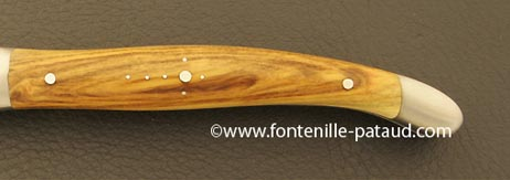Folding knife pistachio wood