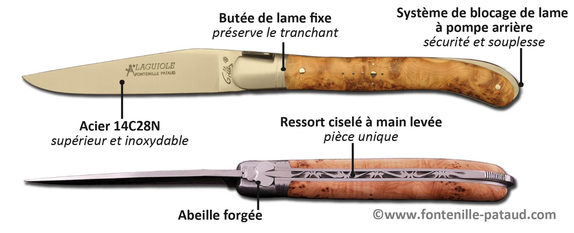 Couteau Laguiole Nature classique fabriqué en France