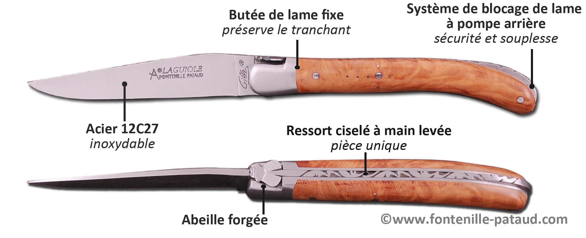Laguiole Le Pocket, discret mais efficace avec son système de blocage de lame