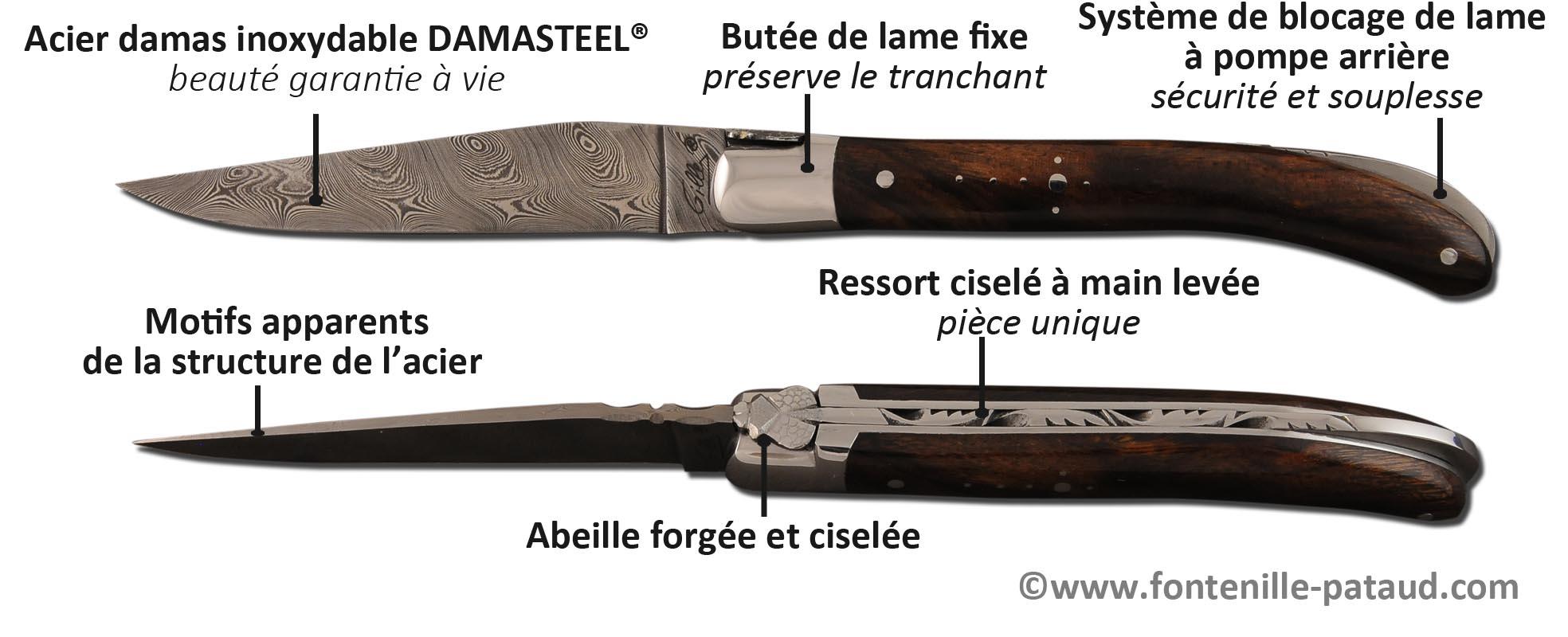 Couteau Laguiole le Pocket : 10.5 cm d'artisanant made in France